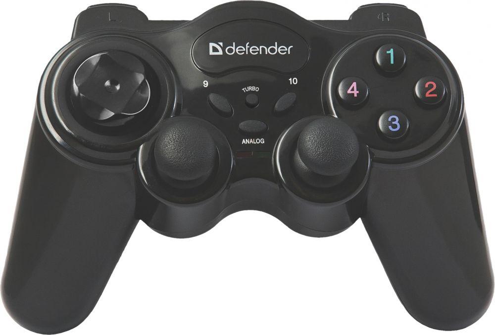 Геймпад Defender Game Master черный USB Беспроводной виброотдача