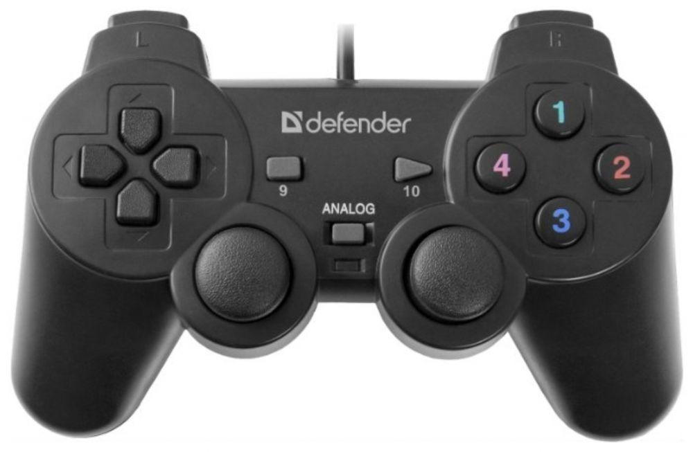 Геймпад Defender Omega черный USB виброотдача