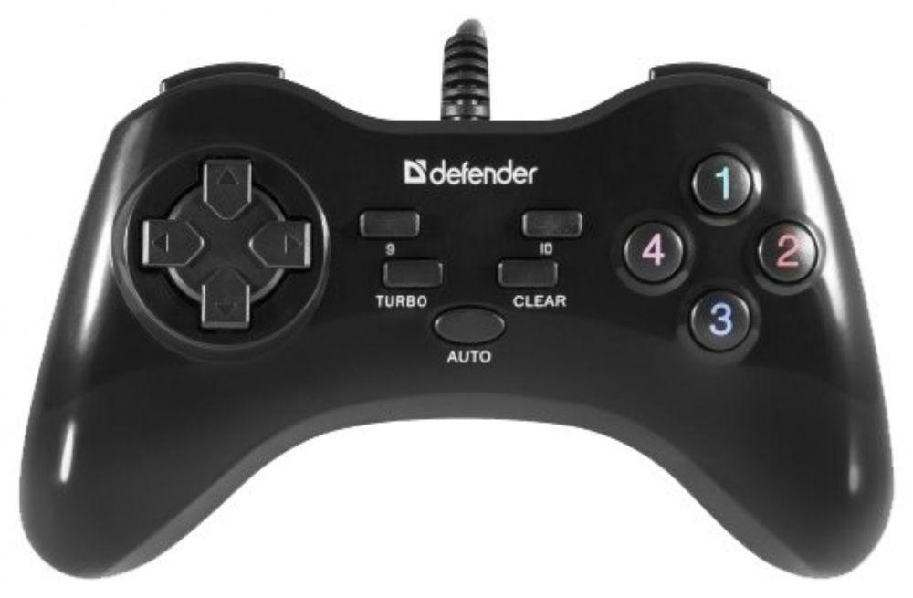 Геймпад Defender Game Master G2 черный USB обратная связь