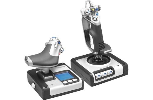 Джойстик Logitech G Saitek X52 Flight Control System черный/белый USB виброотдача