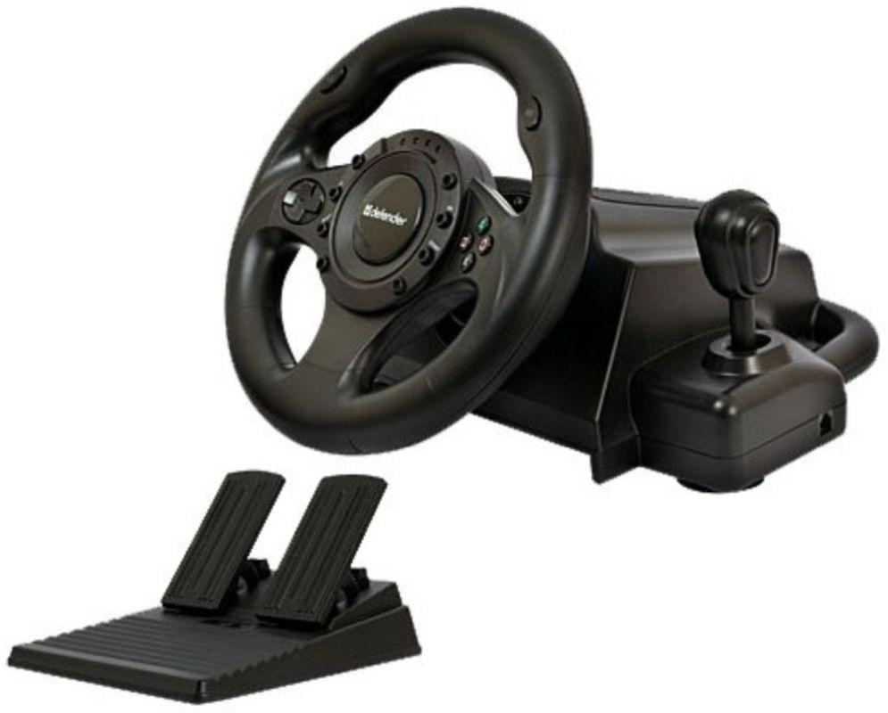 Руль Defender Forsage Drift GT 12кноп. (с педалями) черный