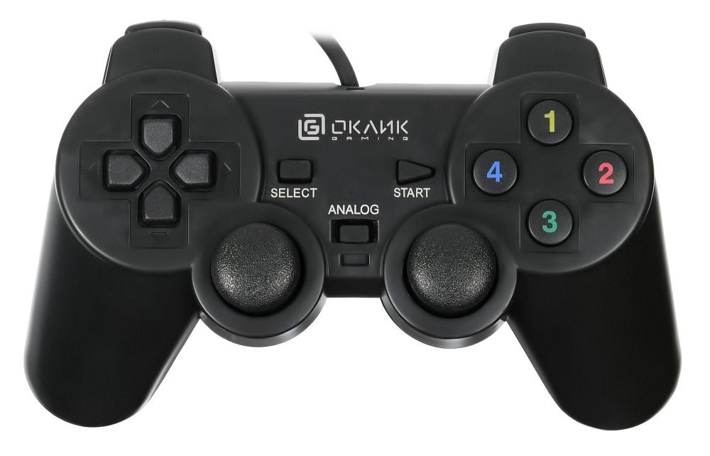 Геймпад Oklick GP-200M черный USB виброотдача