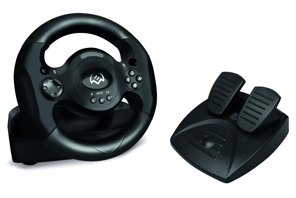 Руль Sven Sportline GC-W300 10кноп. (с педалями) черный (плохая упаковка)