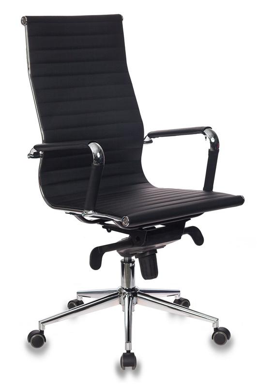 Кресло руководителя Бюрократ CH-883MB/BLACK черный искусственная кожа крестовина хром