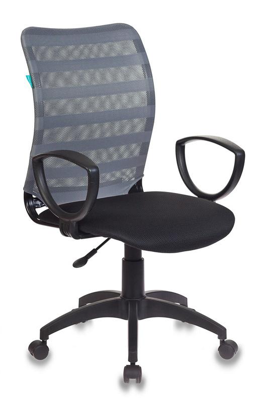 Кресло Бюрократ CH-599AXSN/32G/TW-11 спинка сетка серый TW-32K03 сиденье черный TW-11