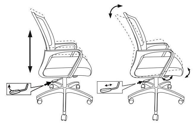 Кресло Бюрократ MC-201/DG/TW-11 спинка сетка серый TW-04 сиденье черный TW-11