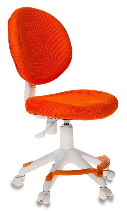 Кресло детское Бюрократ KD-W6-F/TW-96-1 оранжевый (пластик белый)