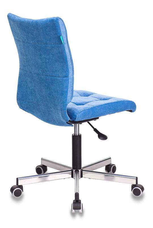 Кресло Бюрократ CH-330M голубой Velvet 86 крестовина металл хром