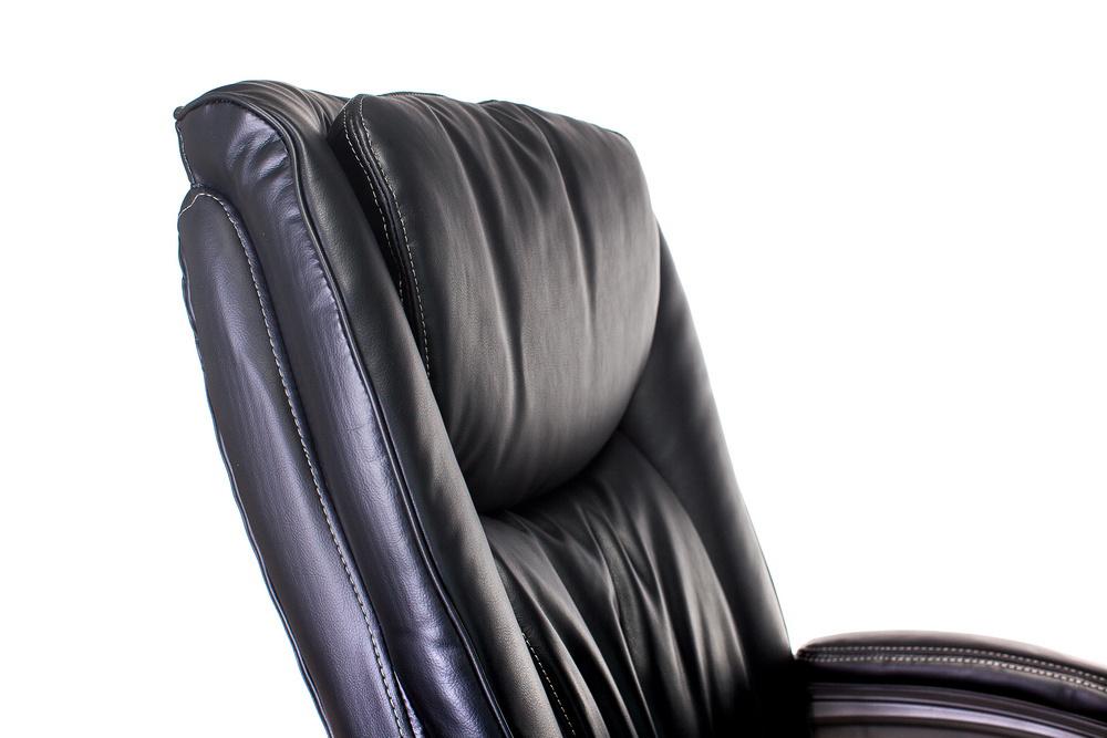 Кресло руководителя Бюрократ T-9914 черный рец.кожа/кожзам крестовина пластик пластик серебро