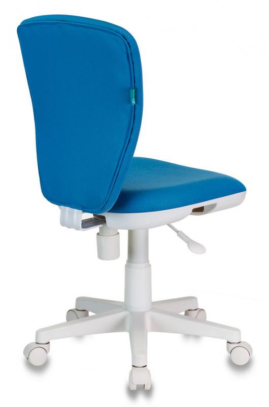 Кресло детское Бюрократ KD-W10 голубой 26-24 крестовина пластик пластик белый
