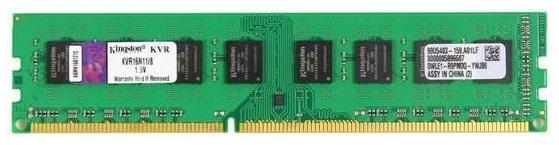 Память DDR3L 4Gb 1600MHz Kingston KVR16LN11/4 RTL PC3-12800 CL11 DIMM 240-pin 1.35В