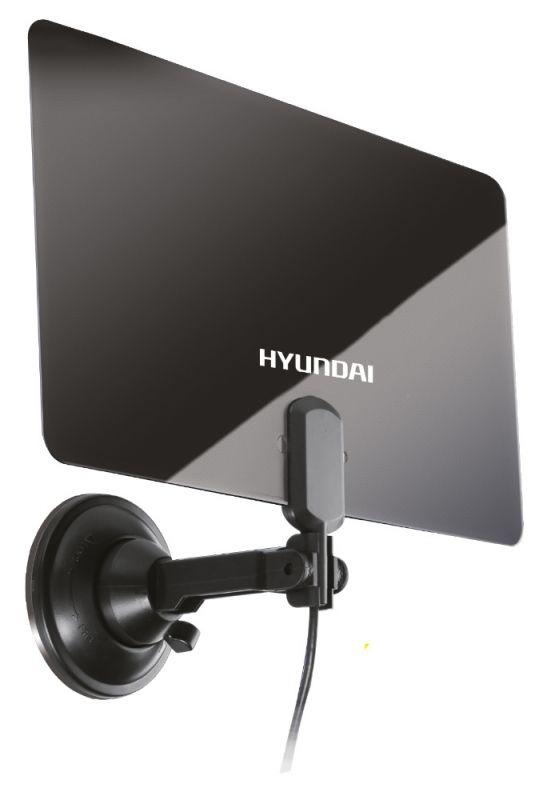 Антенна телевизионная Hyundai H-TAI220 28дБ активная черный