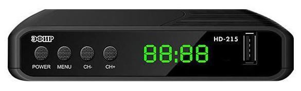 Ресивер DVB-T2 Сигнал Эфир HD-215 черный