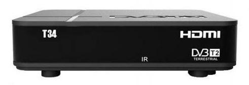 Ресивер DVB-T2 Сигнал T34 черный