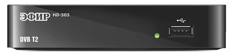 Ресивер DVB-T2 Сигнал Эфир HD-505 черный