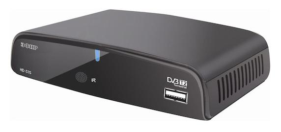 Ресивер DVB-T2 Сигнал Эфир HD-515 черный