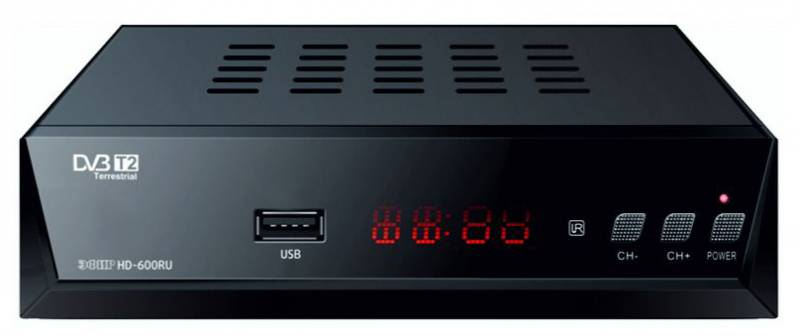 Ресивер DVB-T2 Сигнал Эфир HD-600RU черный