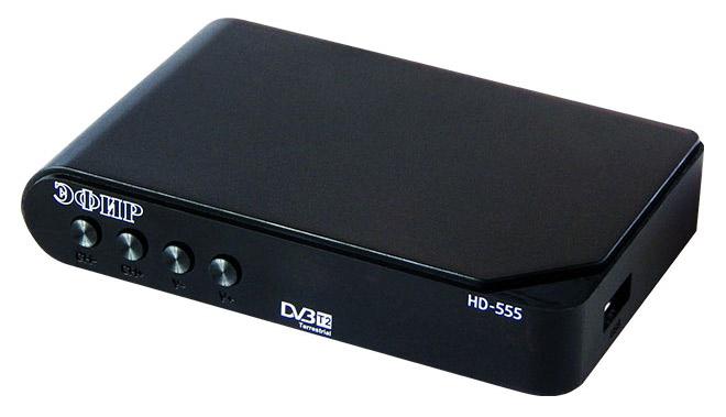 Ресивер DVB-T2 Сигнал Эфир HD-555 черный