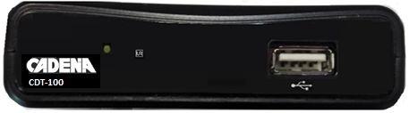 Ресивер DVB-T2 Cadena CDT-100 черный