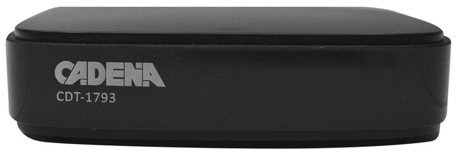 Ресивер DVB-T2 Cadena CDT-1793 черный