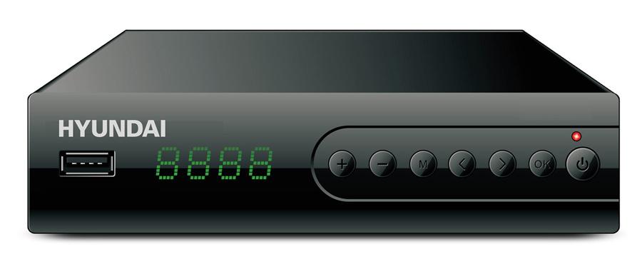 Ресивер DVB-T2 Hyundai H-DVB560 черный