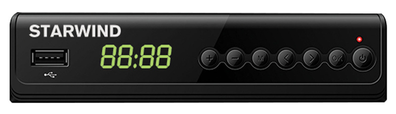 Ресивер DVB-T2 Starwind CT-280 черный