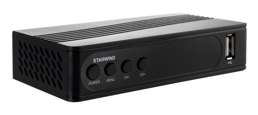 Ресивер DVB-T2 Starwind CT-120 черный