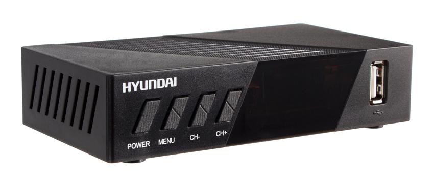 Ресивер DVB-T2 Hyundai H-DVB420 черный