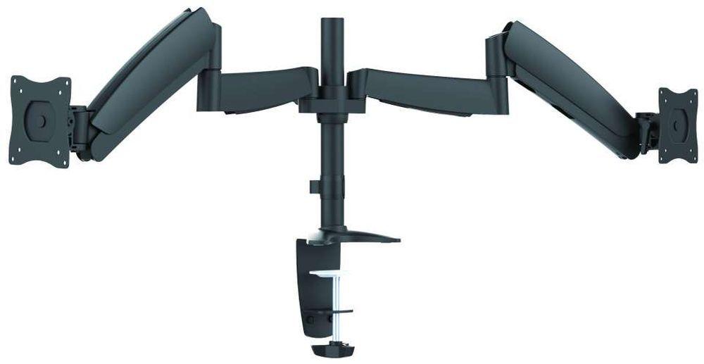 """Кронштейн для мониторов Ultramounts UM 703 черный 13""""-27"""" макс.9кг настольный поворот и наклон верт.перемещ."""