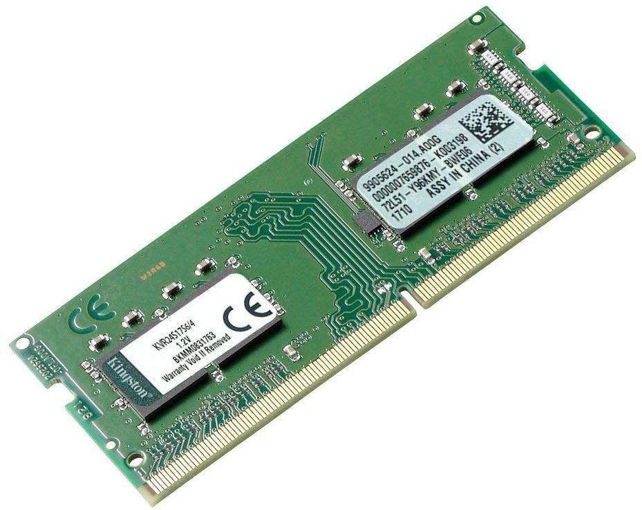 Память DDR4 4Gb 2400MHz Kingston KVR24S17S6/4 RTL PC4-19200 CL17 SO-DIMM 260-pin 1.2В single rank