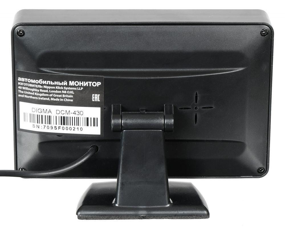 """Автомобильный монитор Digma DCM-430 4.3"""" 16:9 480x272 2.5Вт"""