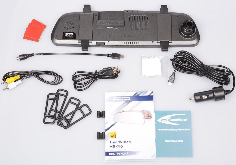 Видеорегистратор TrendVision MR-710 черный 1296x2304 1296p 160гр. Ambarella A7LA70