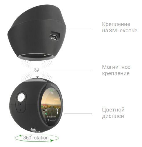 Видеорегистратор Navitel R1000 черный 1080x1920 1080p 165гр. GPS MSTAR MSC8328