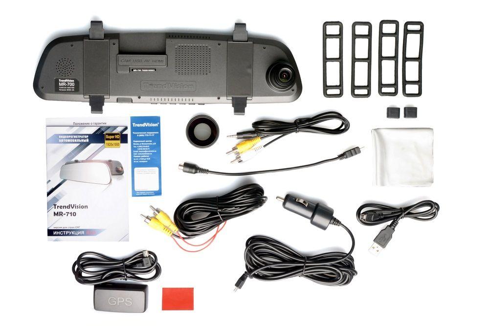 Видеорегистратор TrendVision MR-710 GNS черный 1296x2304 1296p Ambarella A7LA70