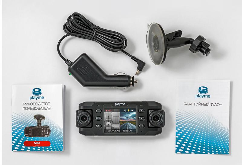 Видеорегистратор Playme NIO черный 480x1280 140гр.