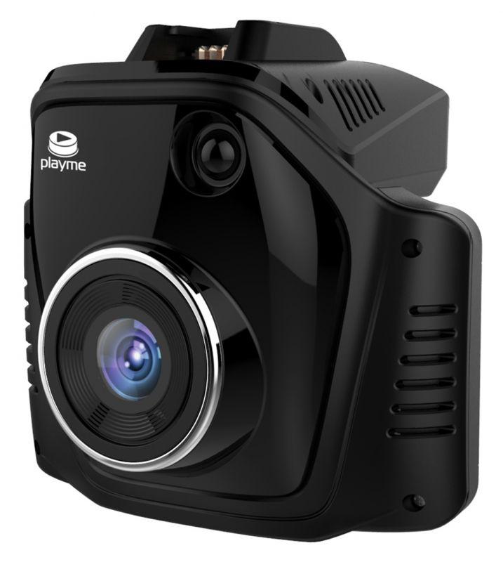 Видеорегистратор с радар-детектором Playme TURBO черный