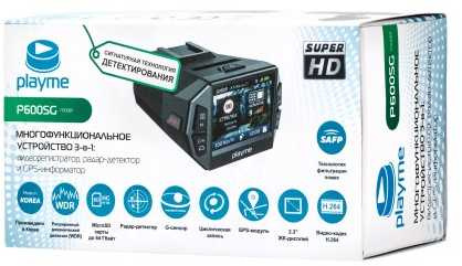 Видеорегистратор с радар-детектором Playme P600SG GPS черный