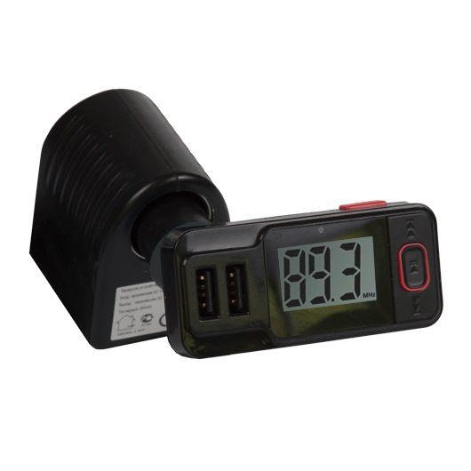 Автомобильный FM-модулятор Ritmix FMT-A775 черный MicroSD BT USB (15119075)