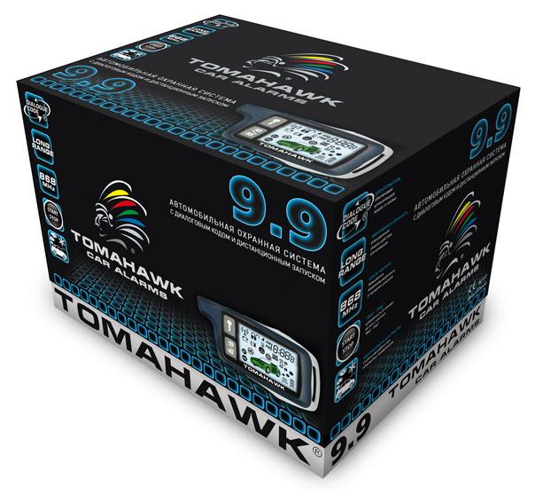 Автосигнализация Tomahawk 9.9 с обратной связью + дистанционный запуск брелок с ЖК дисплеем