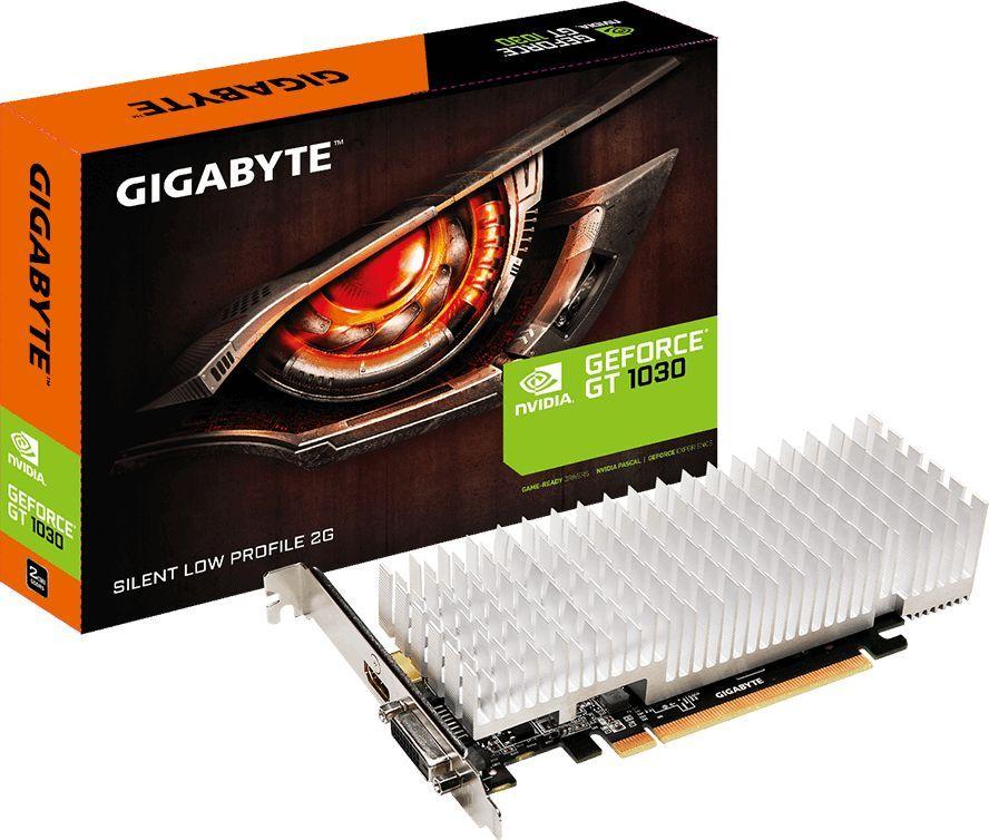 Видеокарта Gigabyte PCI-E GV-N1030SL-2GL nVidia GeForce GT 1030 2048Mb 64bit GDDR5 1227/6008/HDMIx1/HDCP Bulk low profile