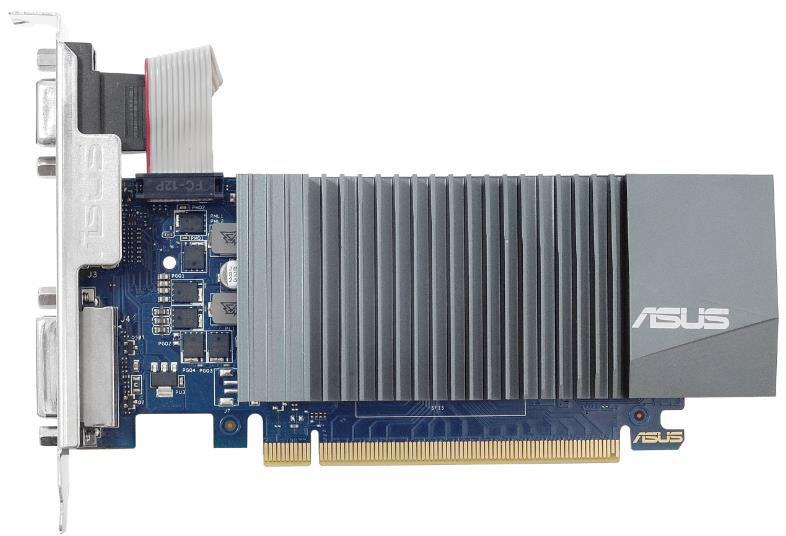 Видеокарта Asus PCI-E GT710-SL-1GD5-BRK NVIDIA GeForce GT 710 1024Mb 32 GDDR5 954/5012 DVIx1/HDMIx1/CRTx1/HDCP Ret low profile