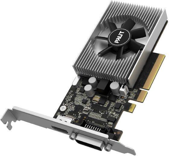 Видеокарта Palit PCI-E PA-GT1030 2GD4 nVidia GeForce GT 1030 2048Mb 64bit DDR4 1151/2100 DVIx1/HDMIx1/HDCP Ret low profile
