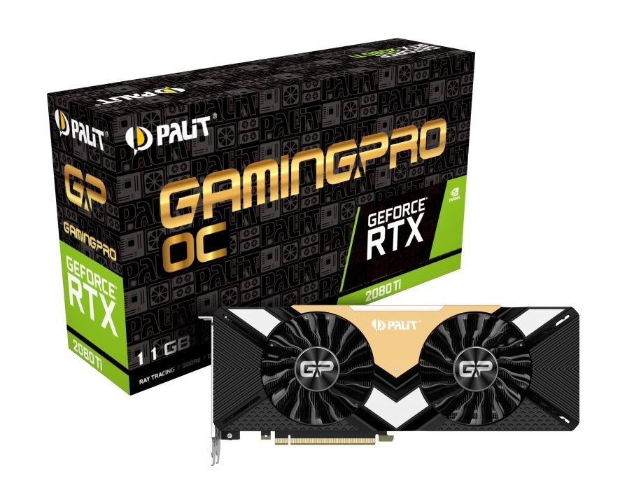 Видеокарта Palit PCI-E PA-RTX2080TI Gaming Pro OC 11G nVidia GeForce RTX 2080Ti 11264Mb 352bit GDDR6 1350/14000/HDMIx1/DPx3/Type-Cx1/HDCP Ret