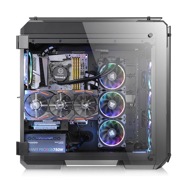 Корпус Thermaltake View 71 TG черный без БП ATX 9x120mm 4x140mm 2xUSB2.0 2xUSB3.0 audio bott PSU