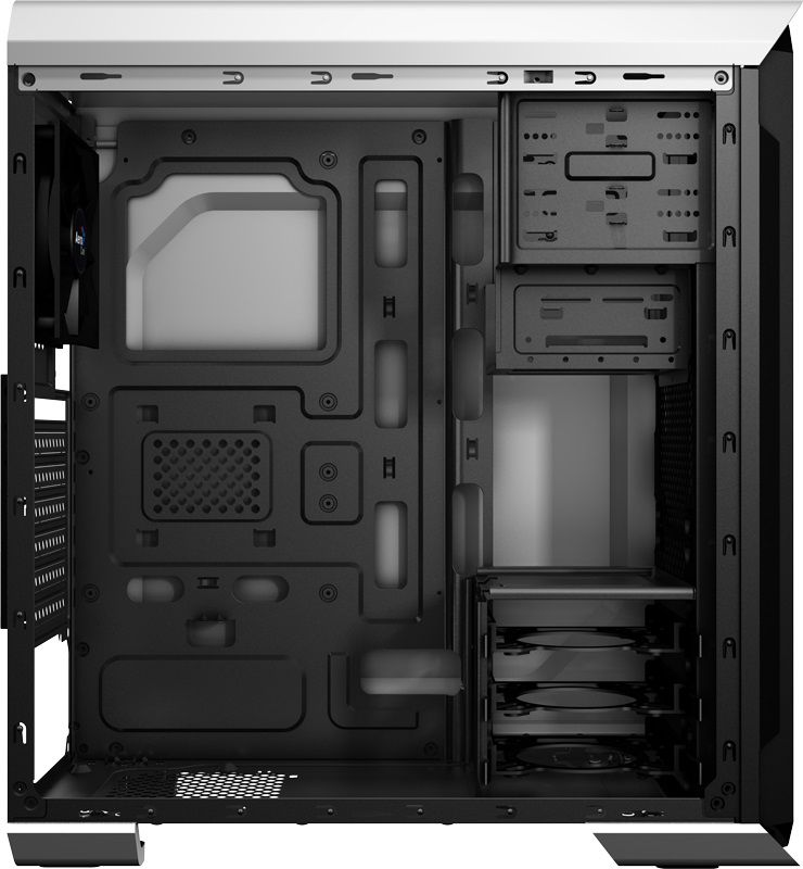 Корпус Aerocool AERO-500 белый без БП ATX 4x120mm 2xUSB2.0 1xUSB3.0 audio bott PSU