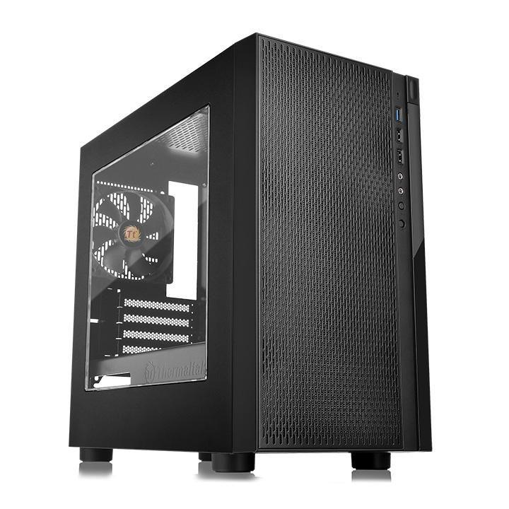 Корпус Thermaltake Versa H18 Window черный без БП mATX 2xUSB2.0 1xUSB3.0 audio bot (плохая упаковка)