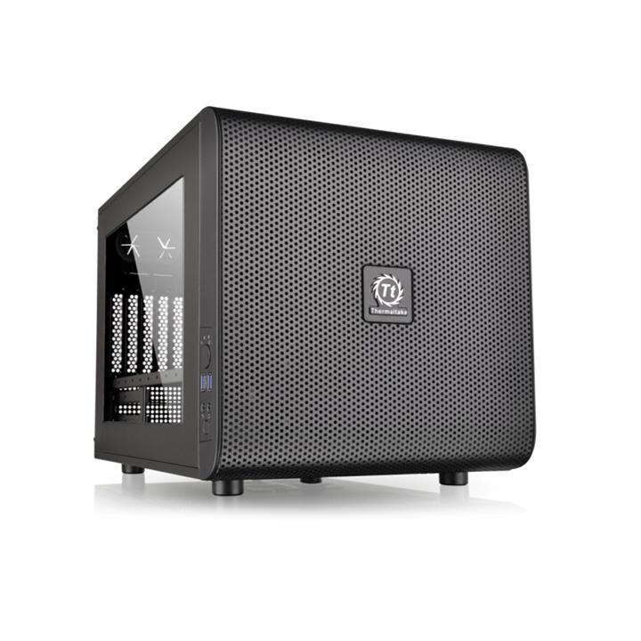Корпус Thermaltake Core V21 черный w/o PSU mATX 6x120mm 3x140mm 2xUSB3.0 audio bot (плохая упаковка)