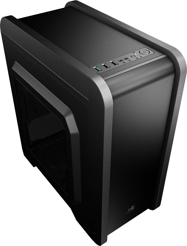Корпус Aerocool Qs-240 черный без БП mATX 4x120mm 2xUSB2.0 1xUSB3.0 audio bott PSU
