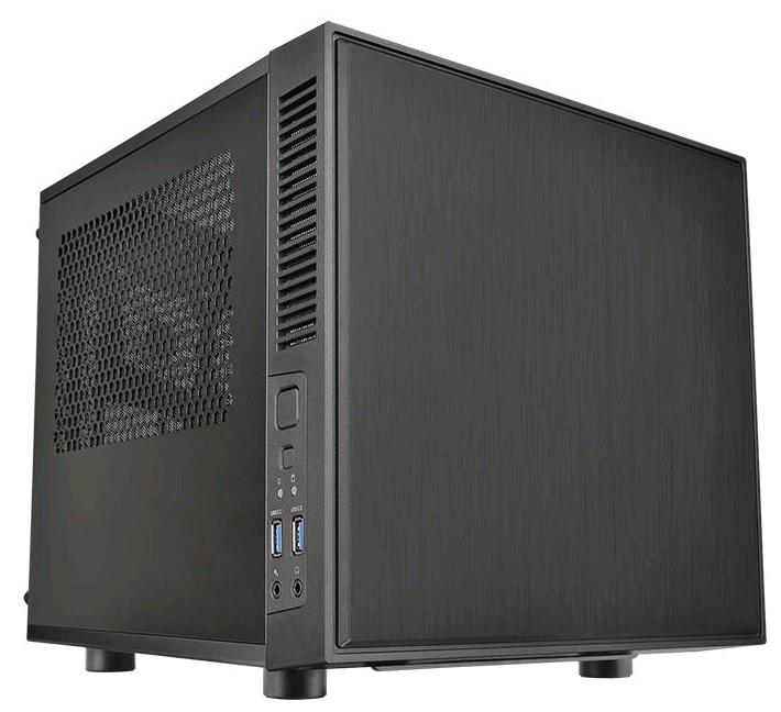 Корпус Thermaltake Suppressor F1 черный w/o PSU miniITX 1x80mm 1x120mm 1x140mm 1x2 (плохая упаковка)