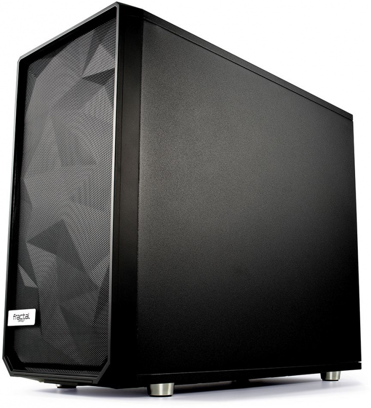 Корпус Fractal Design Meshify S2 Blackout TG Dark черный без БП E-ATX 5x120mm 4x14 (плохая упаковка)